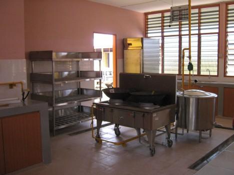 Kawasan dapur yang dah siap disusun